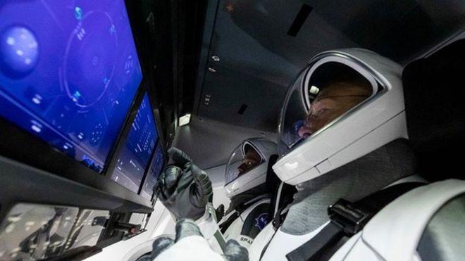 تمرین فضانوردان آمریکایی در آستانه پرتاب به فضا