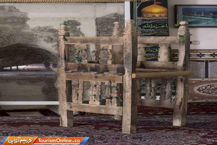 شروع بازسازی منبر چوبی ایلخانی روستای جوین سرخه