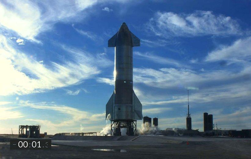 نخستین آزمایش پرواز فضاپیمای استارشیپ SN8 در لحظه پرتاب متوقف شد