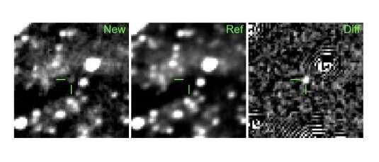 یک جرم ستاره ای جوان در حال انفجار شناسایی شد