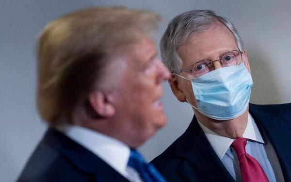 ترامپ خواستار قطع ارتباط جمهوری خواستار با مک کانل شد