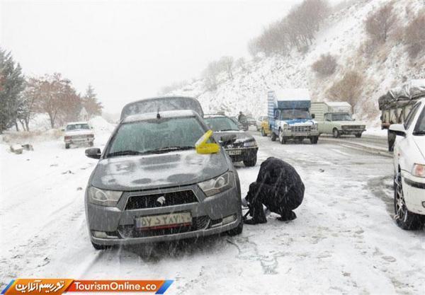باران و برف در جاده های 15 استان
