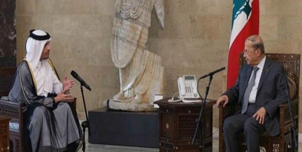 میشل عون: از هر یاری قطر برای برون رفت لبنان از بحران جاری استقبال می کنیم
